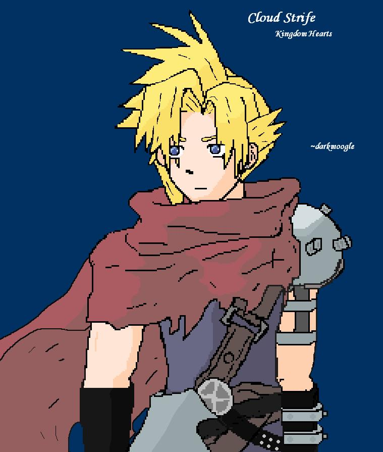 Cloud Strife *art trade Sukooru* by darkmoogle121