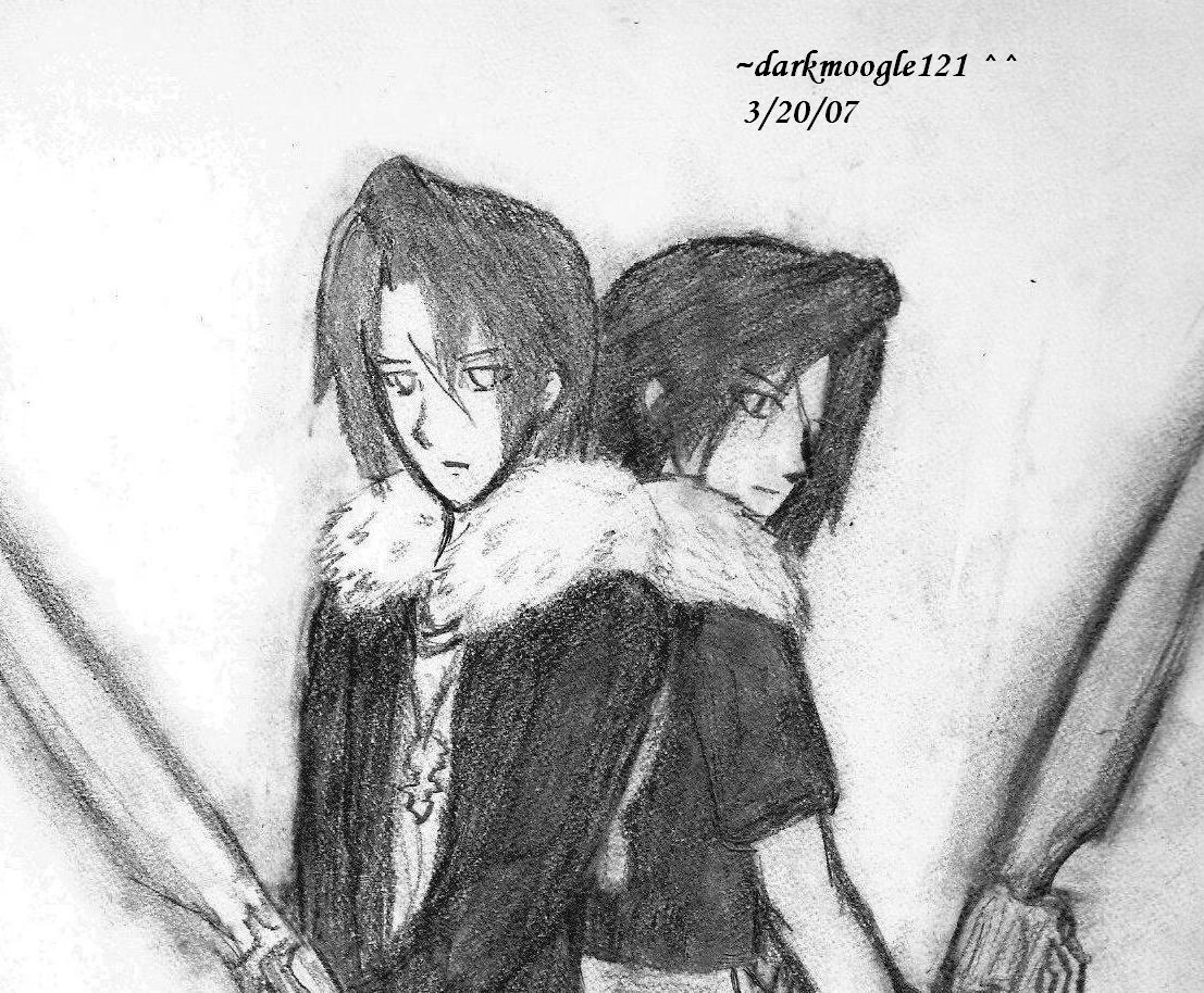 Squall and Leon by darkmoogle121