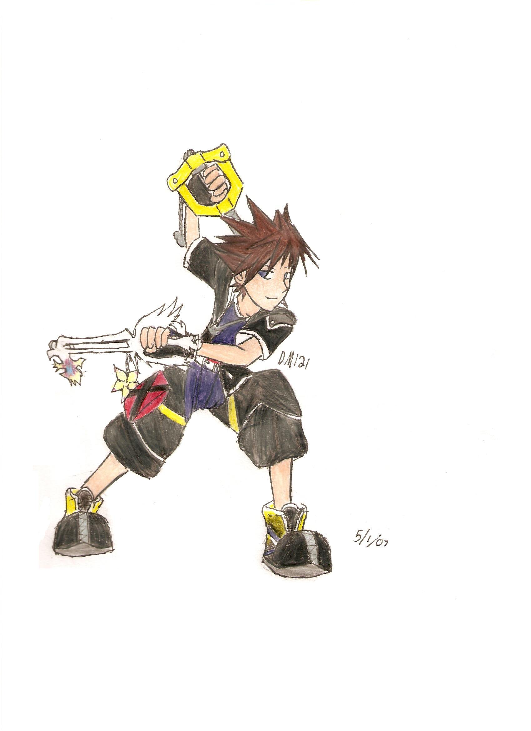 Sora Colored by darkmoogle121