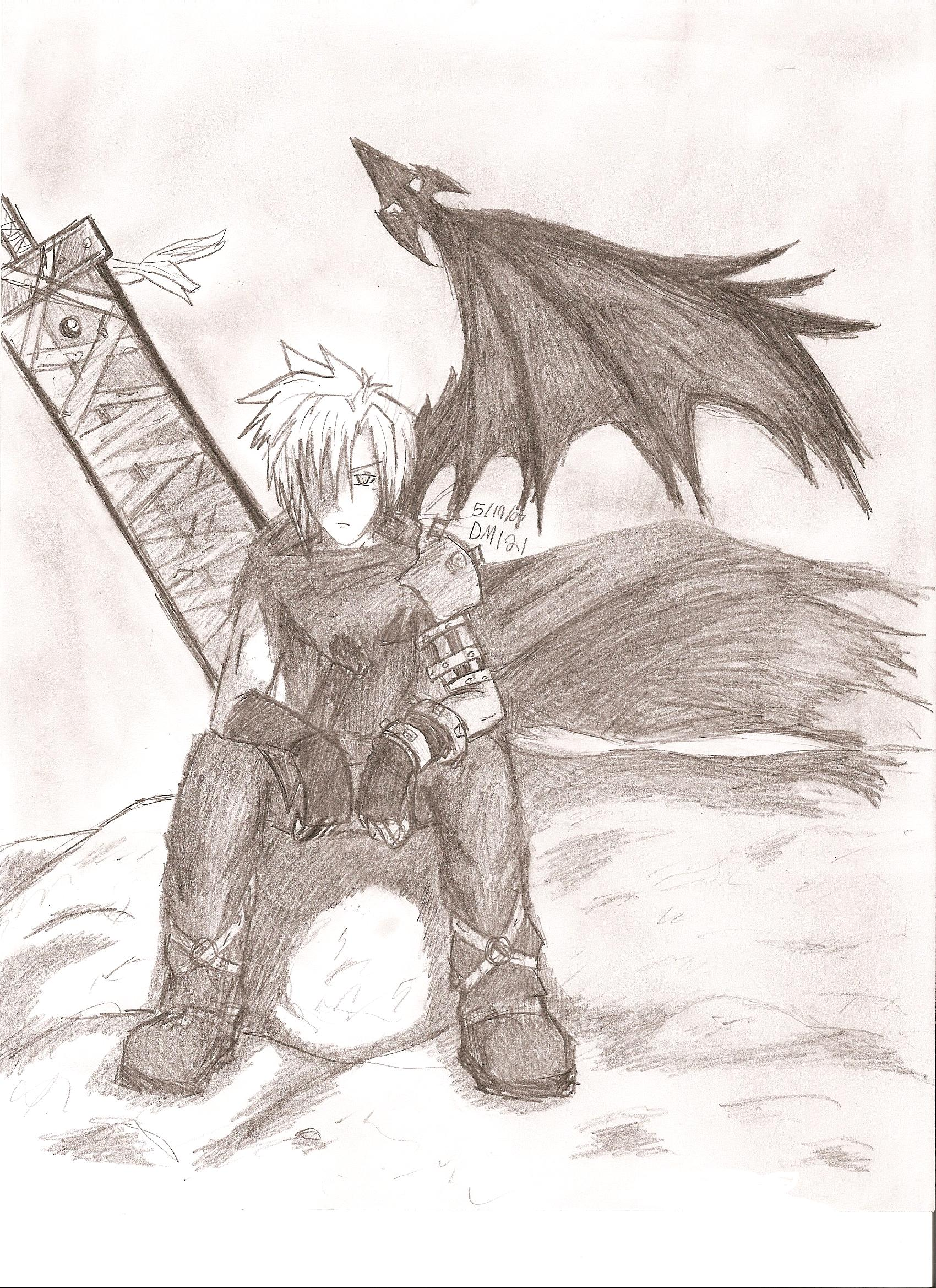 Cloud Strife (Kingdom Hearts) by darkmoogle121