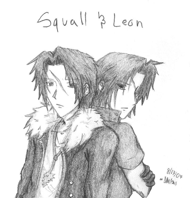 Squall and Leon 2 by darkmoogle121