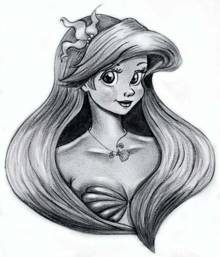 the little mermaid ariel by deedee