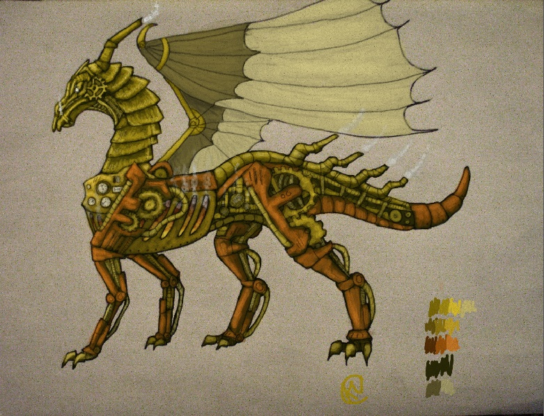 steampunk dragon by demon_lord261