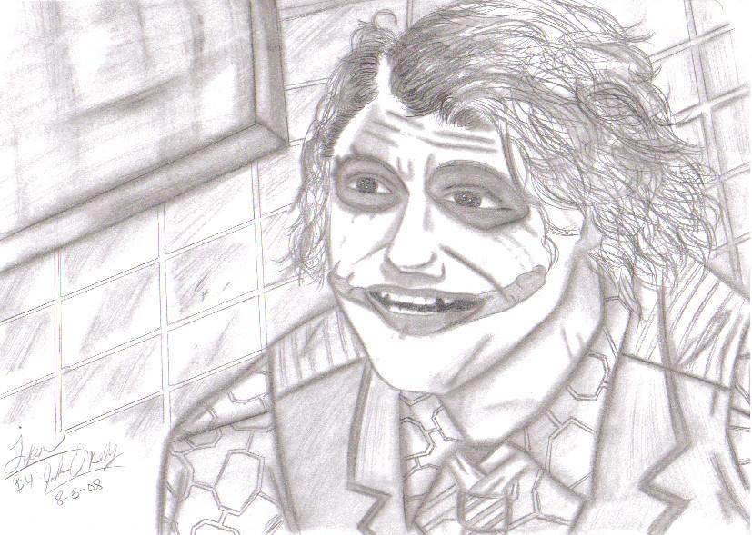 The Dark Knight's Joker by demonofsand