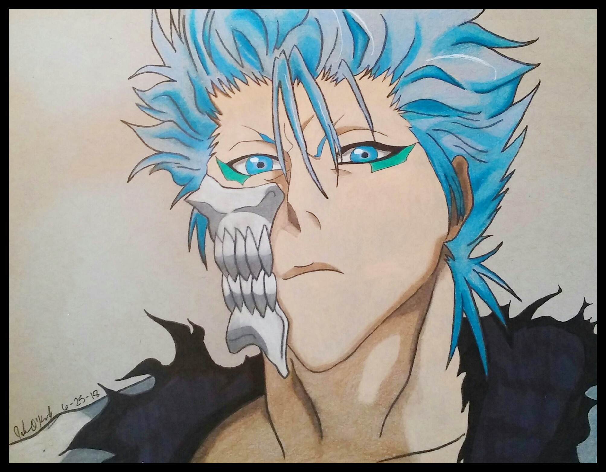Grimmjow of Bleach by demonofsand