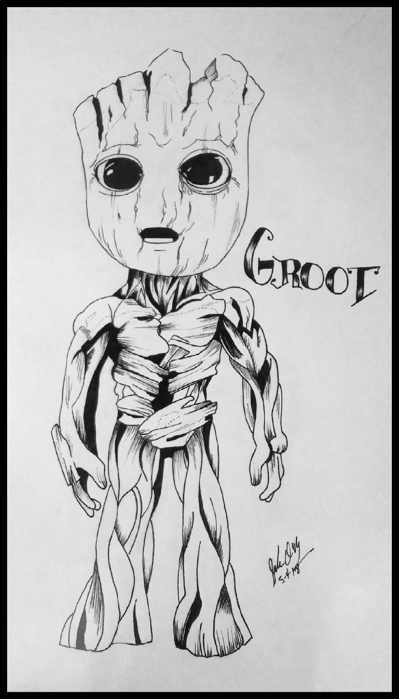 Baby Groot by demonofsand