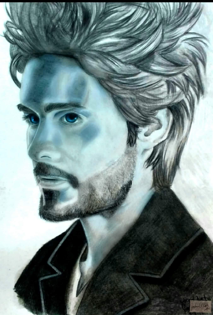 Jared Leto pencil study by demonofsand