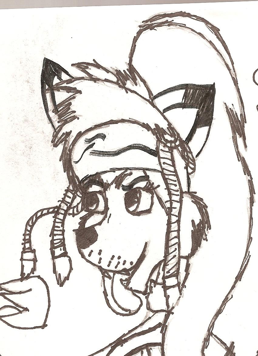 rikku as a fox by desertbreeze
