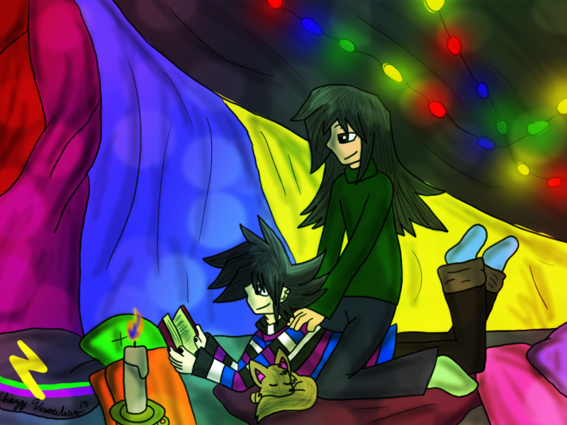 Chazz x Atticus - The Blanket Fort by desertbreeze