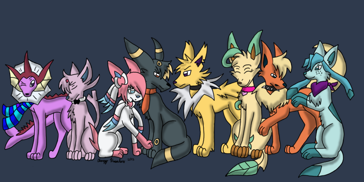 A Family of Eeveelutions by desertbreeze