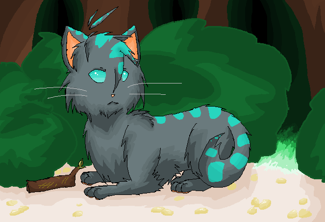 JayFeather (MS paint practice)~ by dingoy_x_chan