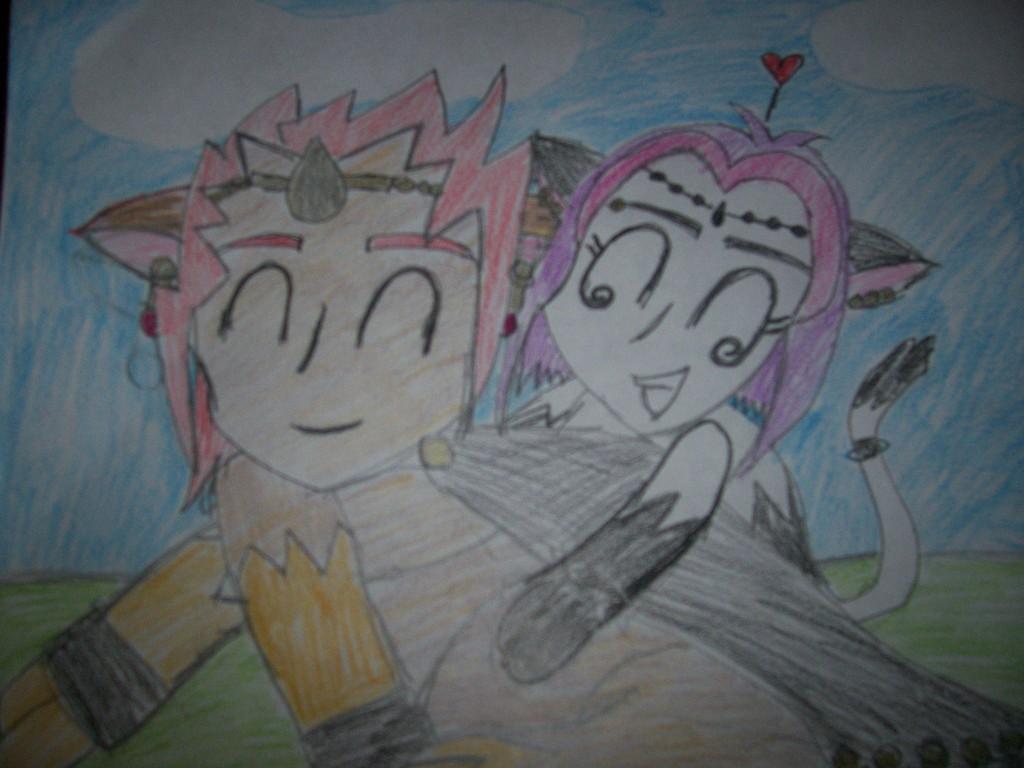 Me and Ganondorf as kitties! by dinsdesendit