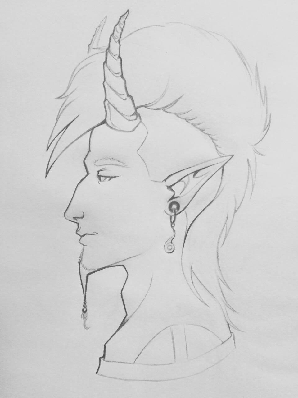 Faust Lineart by dms_cheeseshirted_chorusneko