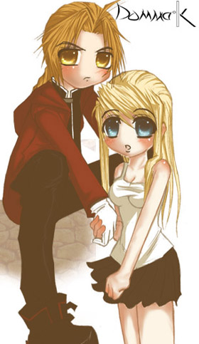 Ed and Winry by domma_k