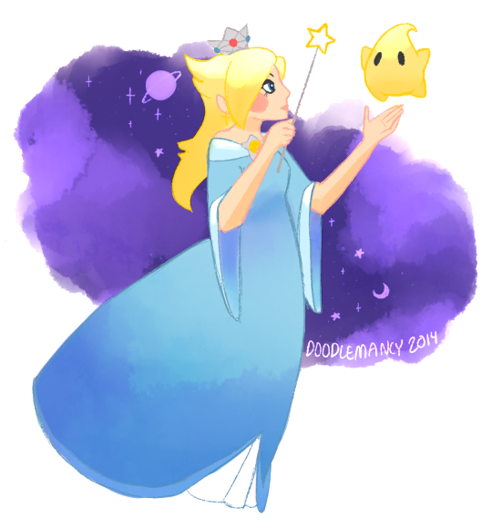 Rosalina and Luma by doodlemancy