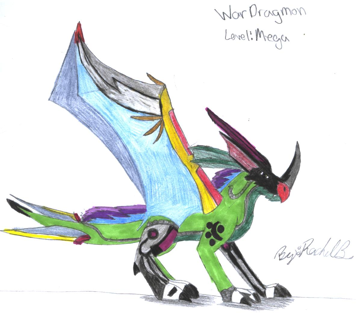 wardragmon my digimon I created by dragon45