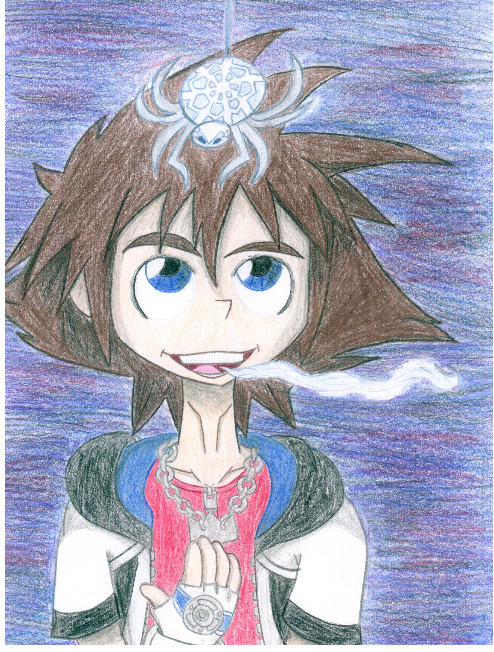 Sora and the Snow Spider by dreamer45