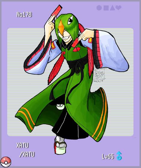 Pokemon gijinka: Xatu by Edge - Fanart Central