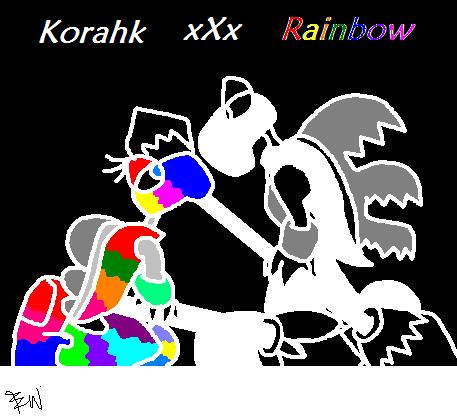 Korahk xXx Rainbow Rahkshi by Edge14
