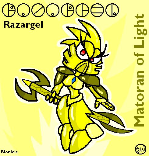 Razargel - Matoran of Light by Edge14