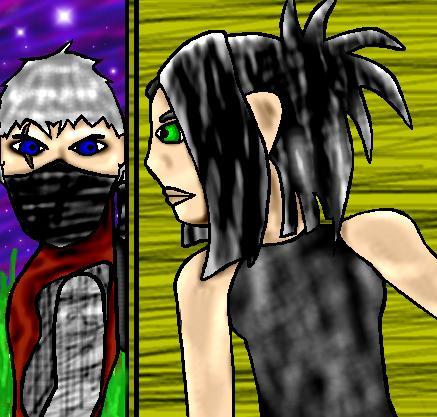 Rikimaru & Ayame Colored by Elfling