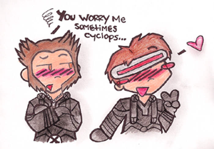 YAY Koot wolvie & Cyclops by EmberLover