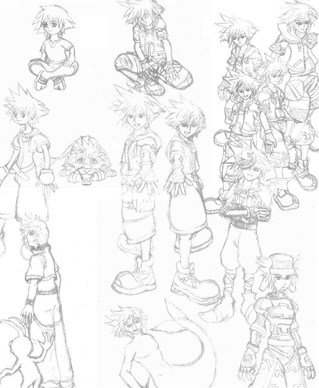 All the Soras by Emeraldwolf