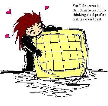 Axel loves waffles by Emeraldwolf
