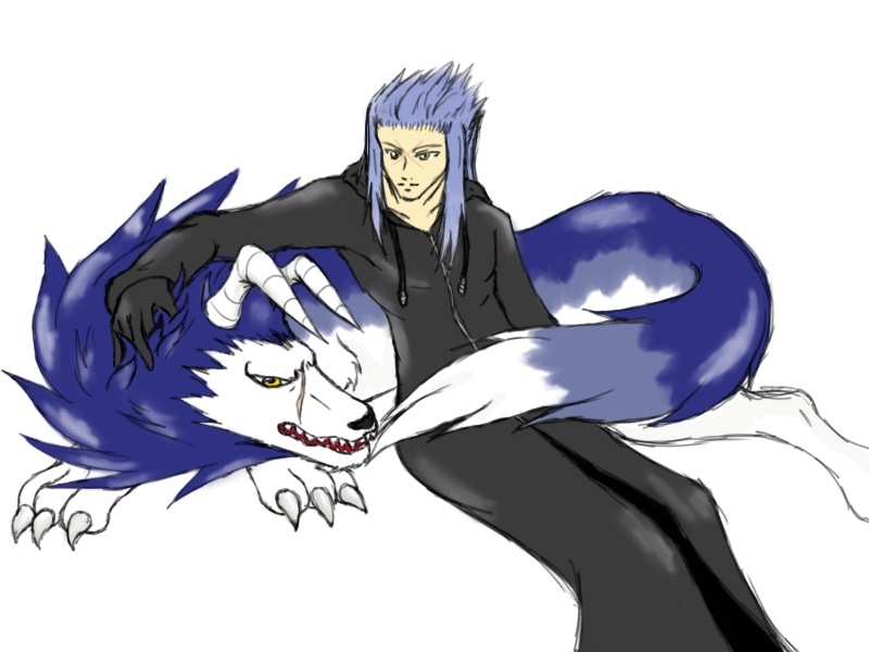Saix and Tiger by Emeraldwolf
