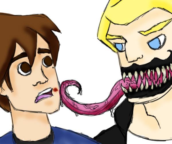 Brock(Venom)/Peter SLASH by Emeraldwolf