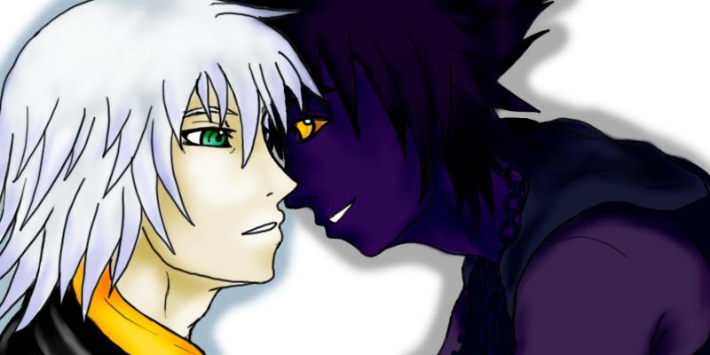 Riku and Shadow by Emeraldwolf