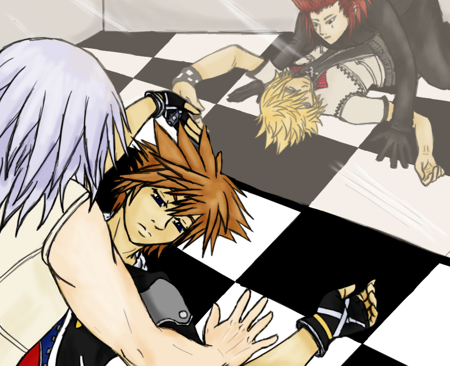Riku/Sora, Axel/Roxas Mirror by Emeraldwolf