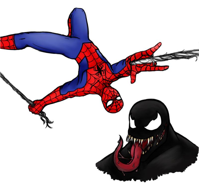 Spidey and Venom by Emeraldwolf