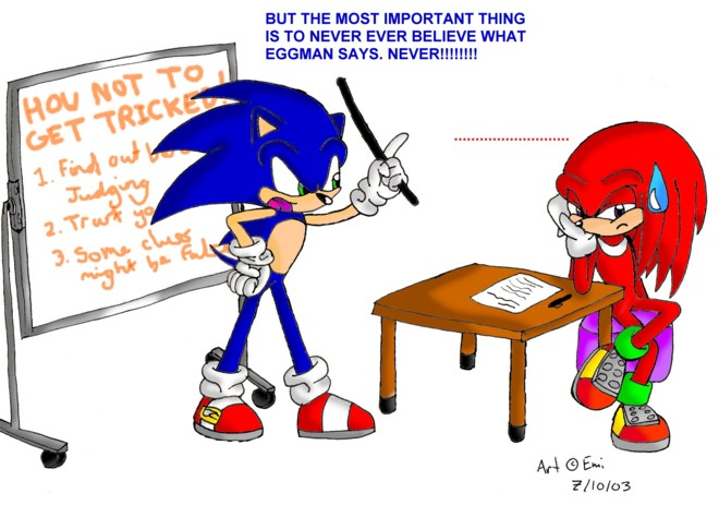 Sonic is fed up by Emi