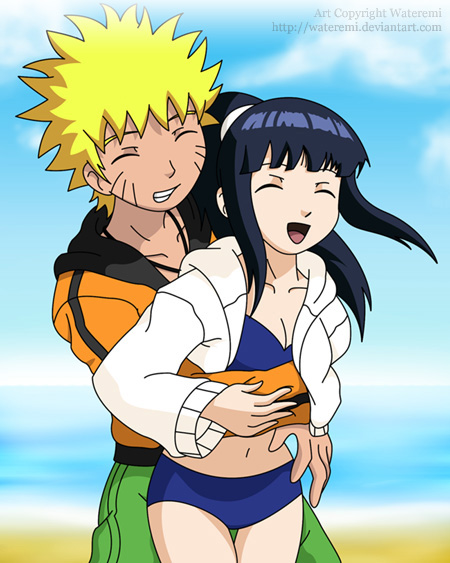 Tickling on the beach (NaruHina) by Emi