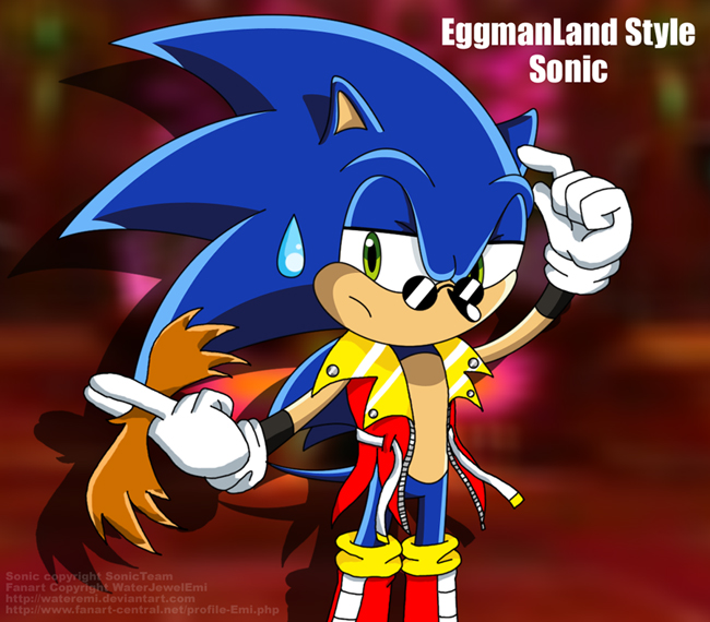 Eggmanland Style Sonic by Emi