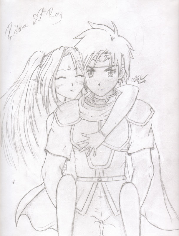 Roy and Reina Piggyback Ride by Emiko