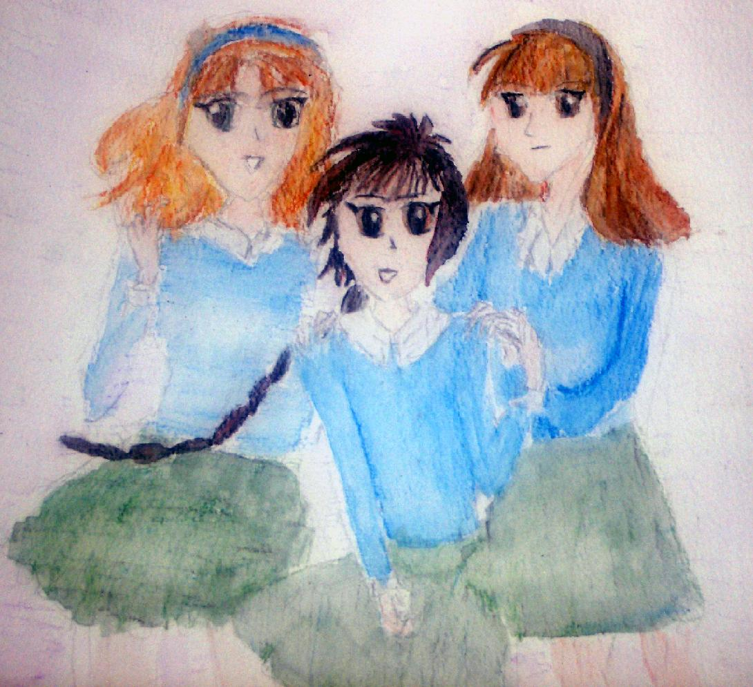 Art Trade with Nemya....Mel, Manning and Ani by Eoara