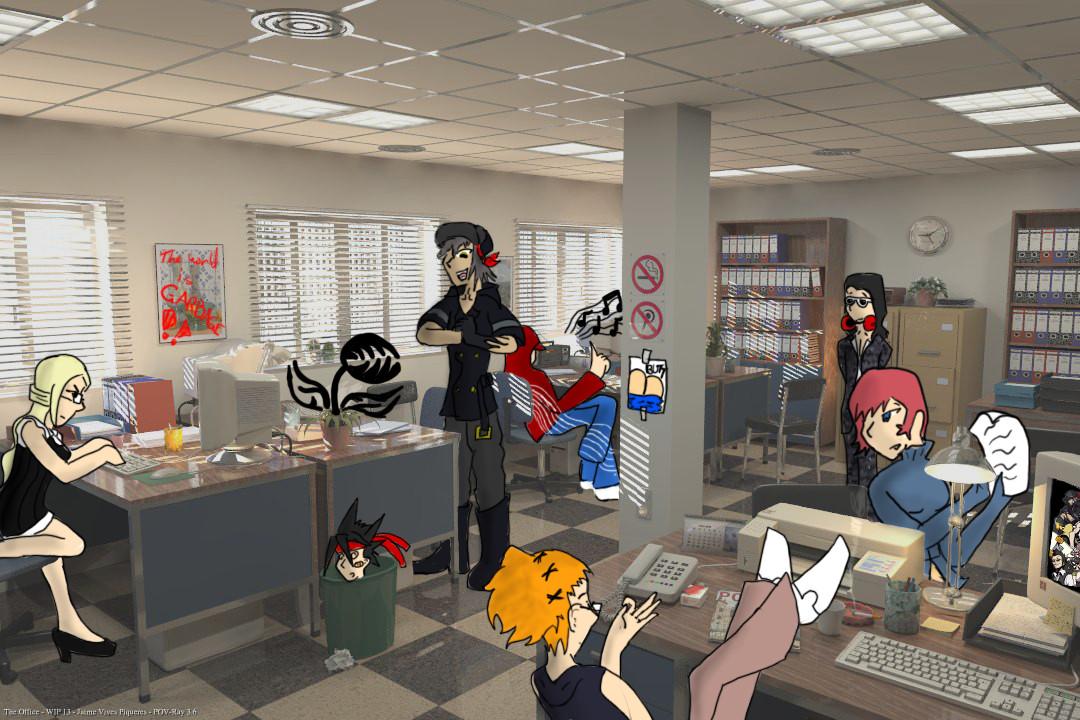 Twewy Office (done) by EternalDarknessWaitsForDawn