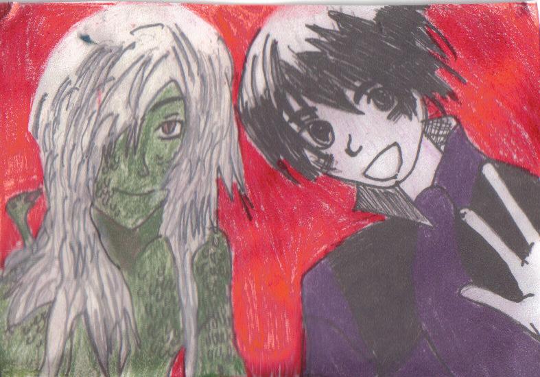 Darren Shan & Evra Von by elf_nichi