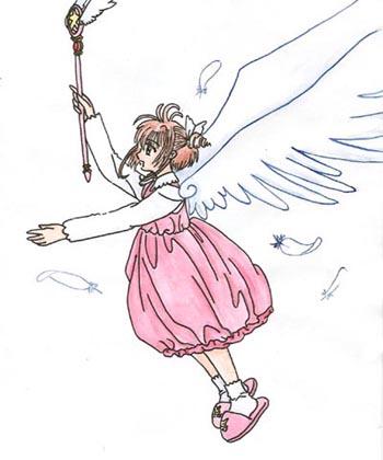 sakura winged by evilsnowball7