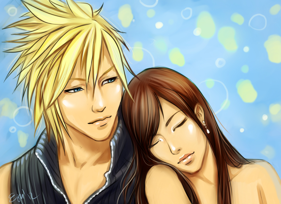 Cloud and Tifa by ezysummers