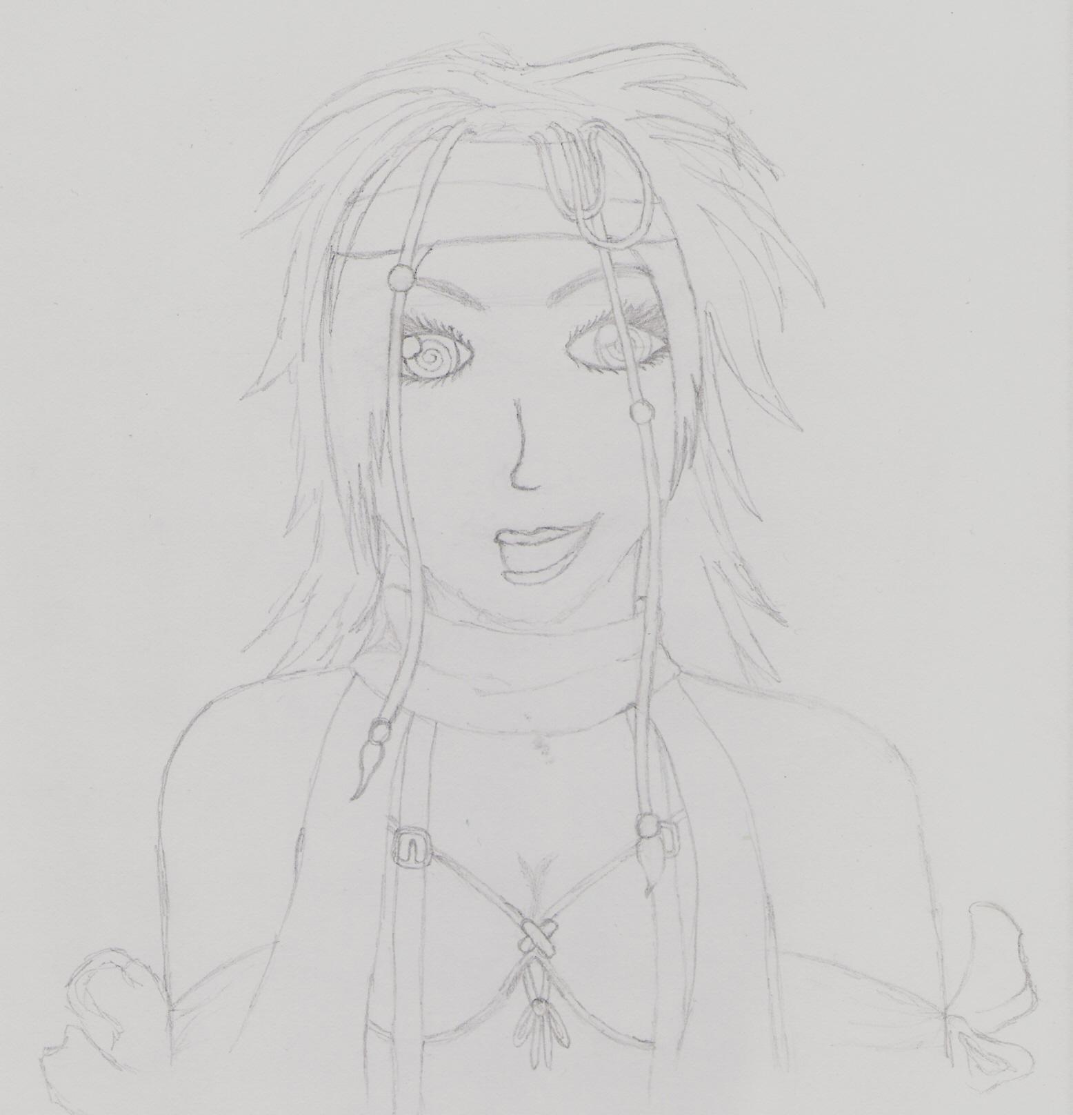 Rikku Sketch by FFX-2_Fan