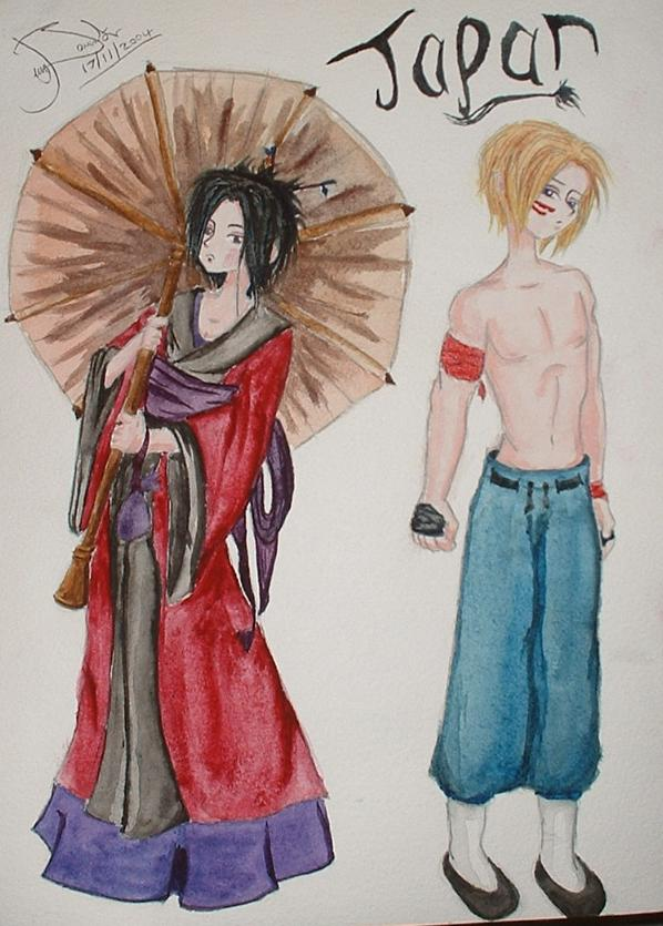 Japan Series (geisha and a ninja/karate/fighter ty by FNs_Jennyfish