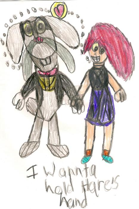 I Wannta Hold Hare's Hand by Falconlobo