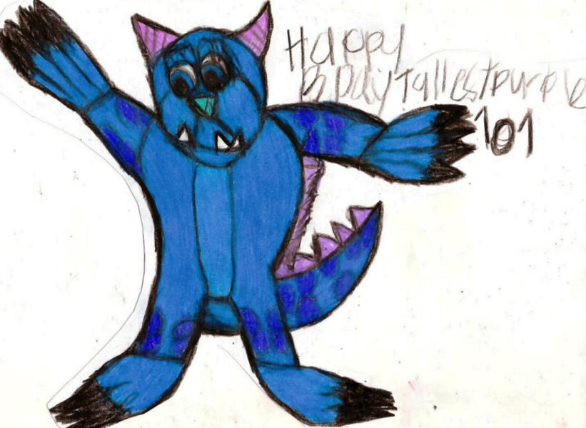 Cute Sulley Chibi B Day Pic   For TallestPurpleONE0ONE^^ by Falconlobo