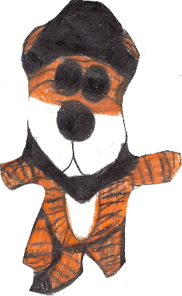 Hobbes Plush With a Hat and Neckerchief Unedited by Falconlobo