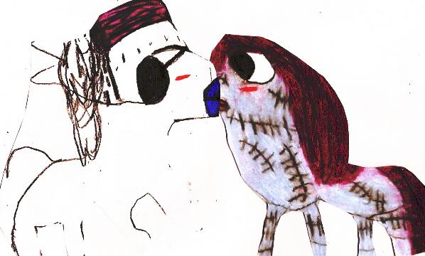 Finkie Horsie X Sally Horsie Kiss Edited^^ by Falconlobo