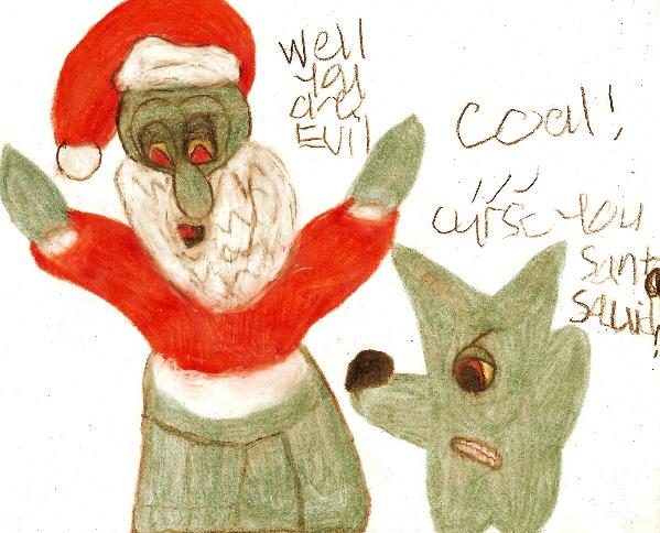 Coal! Curse You Santa Squid! by Falconlobo