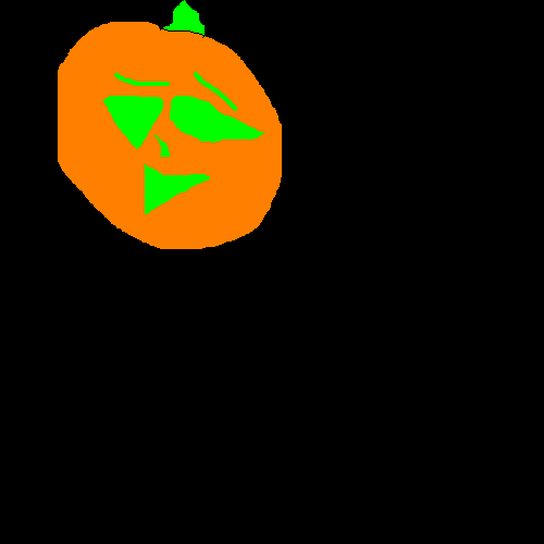 Random Paint Pumpkin by Falconlobo